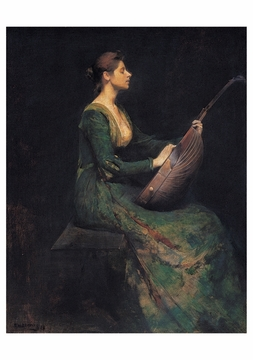 Lady with a Lute Notecard