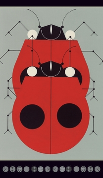 "Ladybugs Mating 3 x 5"" Notepad"