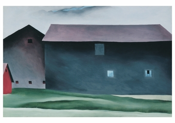 Lake George Barns Notecard