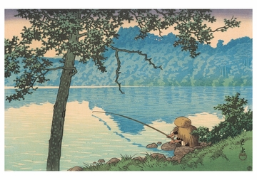 Lake Matsubara, Morning, Shinshu Notecard