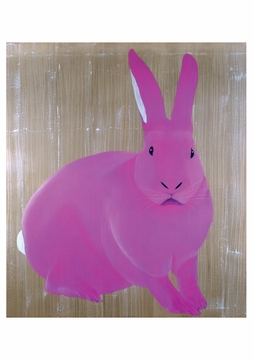 Lapin Rose Notecard