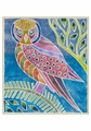 Lisa Houck: Evening Owl III Holiday Cards