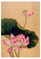 Lotus Blossoms Birthday Card