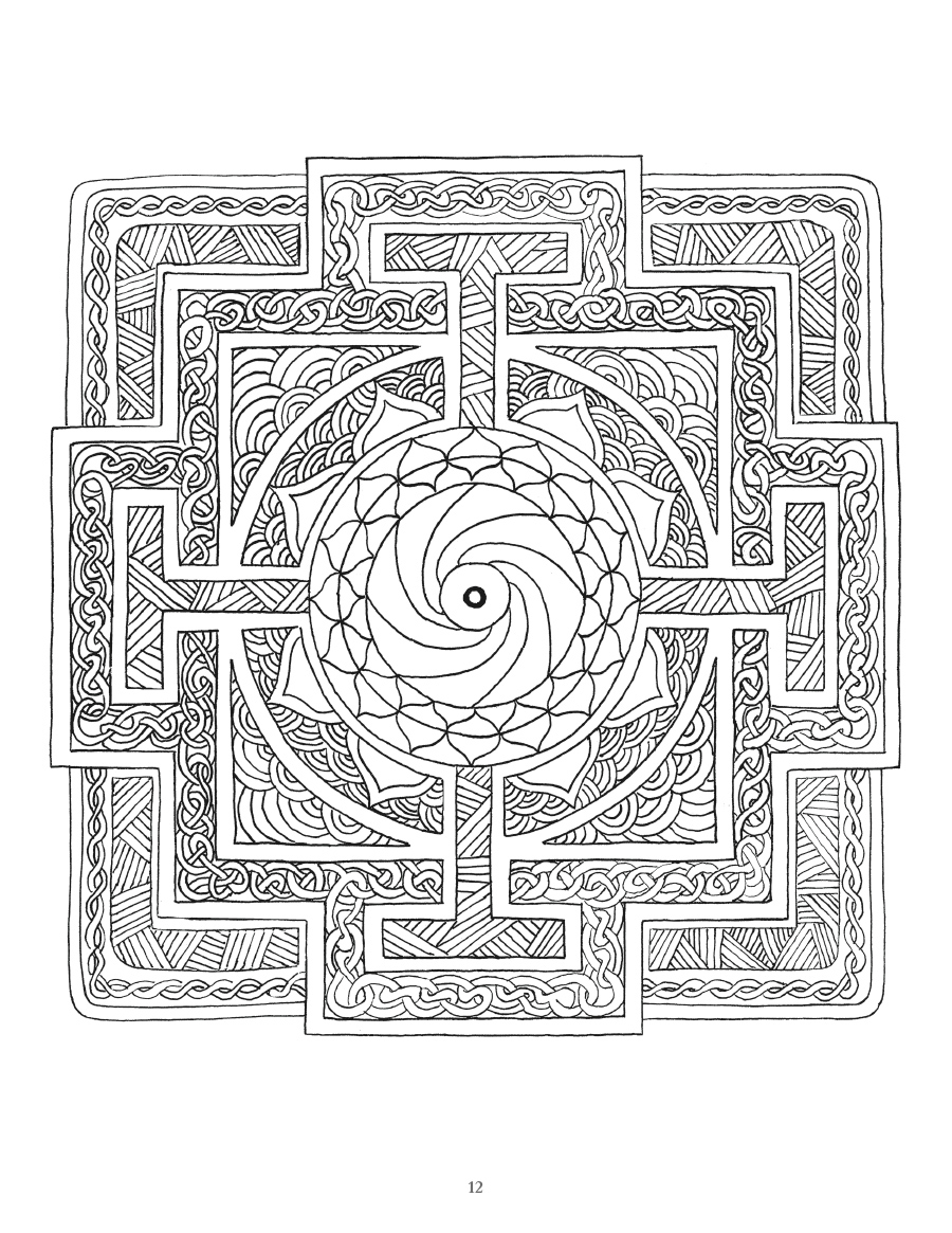 Mystical mandala coloring pages - Mystical Mandala Coloring Pages 13