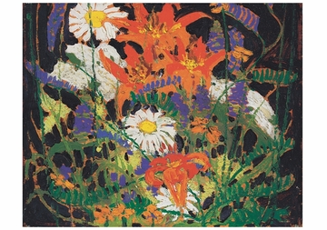 Marguerites, Wood Lilies and Vetch Notecard