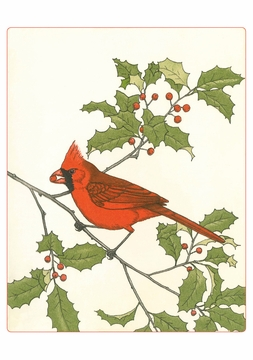 Maurice R. Bebb: Cardinal and American Holly Holiday Cards