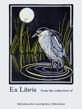 Molly Hashimoto: Black-crowned Night Heron Bookplates