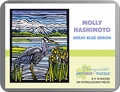 Molly Hashimoto: Great Blue Heron 100-Piece Jigsaw Puzzle