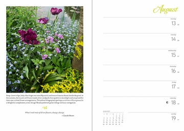 Monet's Passion: The Gardens at Giverny 2018 Engagement Calendar