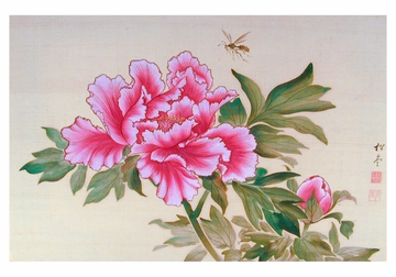 Murakami Shodo: Peonies Boxed Small Notecards