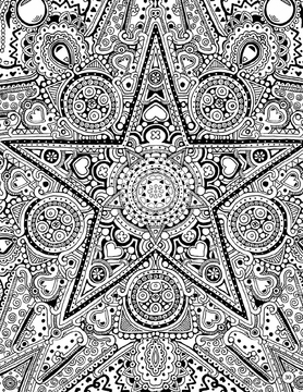 Natural Patterns: A Coloring Book by Janelle Dimmett