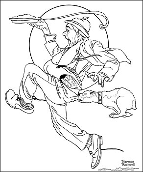 norman rockwell coloring pages - photo#8