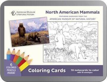 North American Mammals Dioramas Coloring Cards