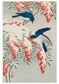 Ohara Shōson: Nanten Bush & Fly Catchers Holiday Cards
