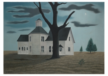 Old House, New Moon Notecard