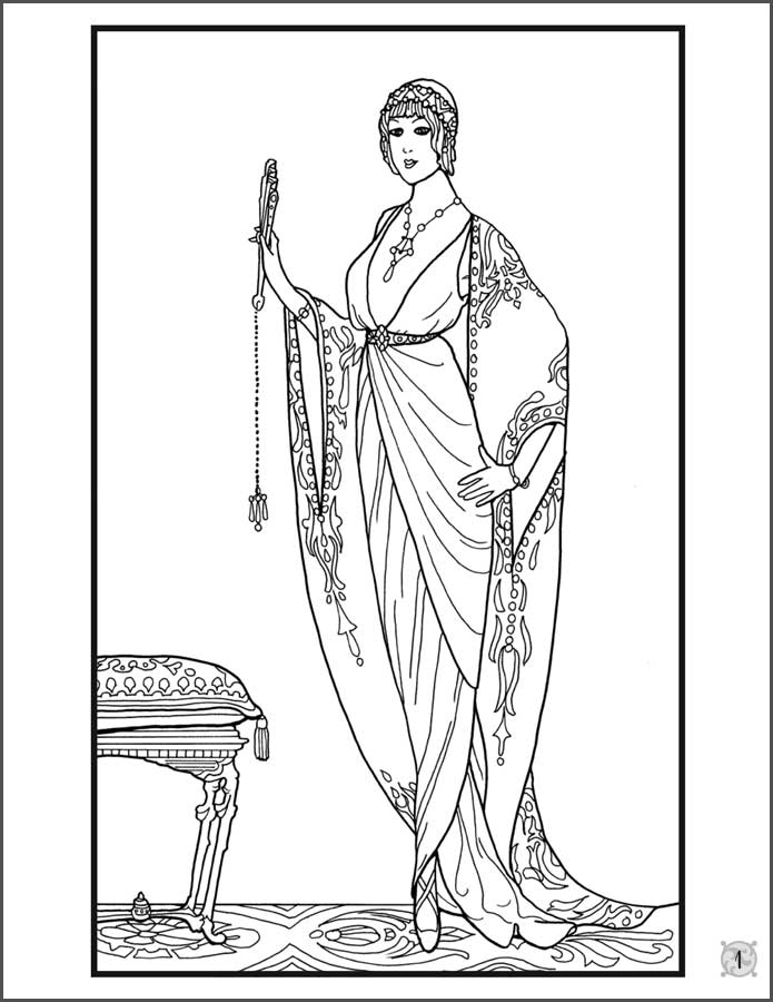 fashion designer coloring pages - photo#30