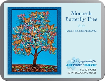 Paul Heussenstamm: Monarch Butterfly Tree 100-piece Jigsaw Puzzle