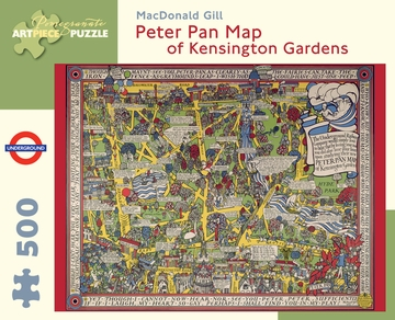MacDonald Gill: Peter Pan Map of Kensington Gardens 500-piece Jigsaw Puzzle