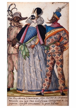 Plate from Book of Italian Costume Postcard