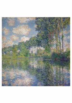 Poplars on the Epte Notecard