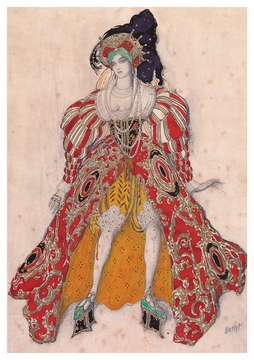 Costume Design for Potiphar's Wife Postcard