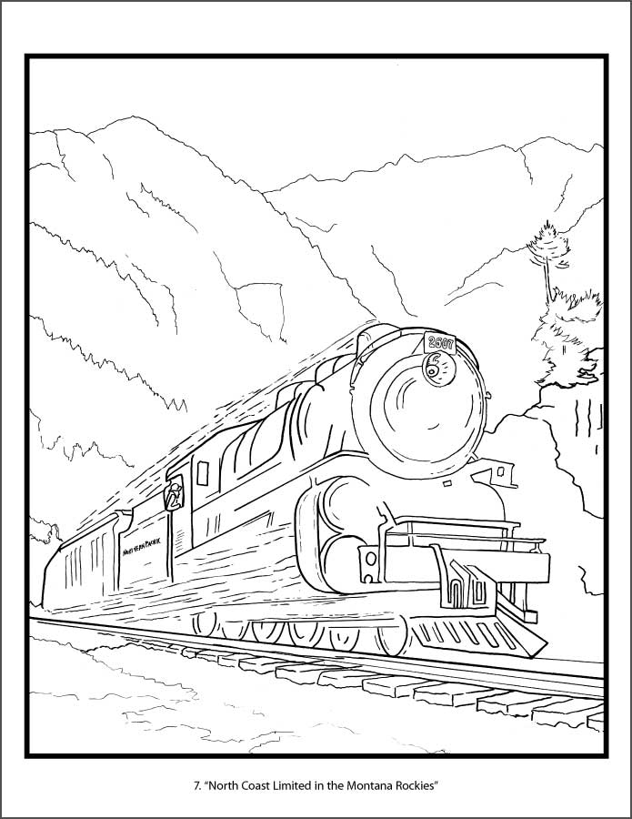 union pacific coloring pages | Railroad Posters of America Coloring Book