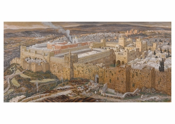 Reconstruction of Jerusalem and the Temple of Herod Postcard