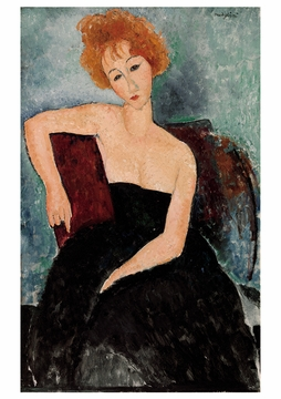 Redheaded Girl in Evening Dress Notecard