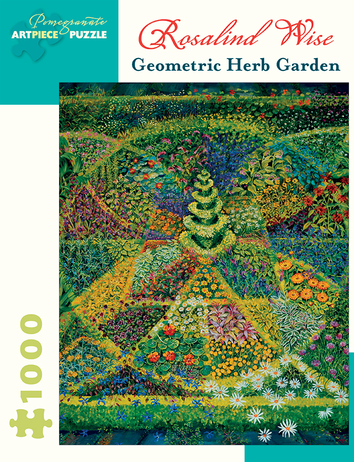 Rosalind wise geometric herb garden 1 000 piece jigsaw puzzle for Century plant crossword clue
