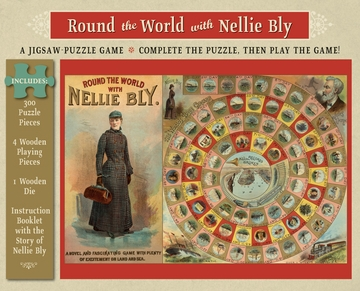 Round the World with Nellie Bly 300-Piece Jigsaw-Puzzle Game