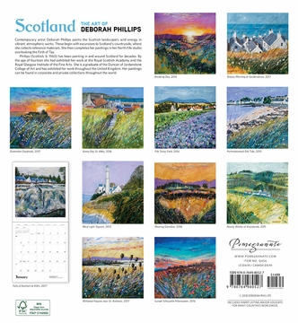 Scotland: The Art of Deborah Phillips 2019 Wall Calendar