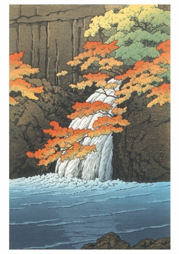 Senju Waterfall, Akame Notecard