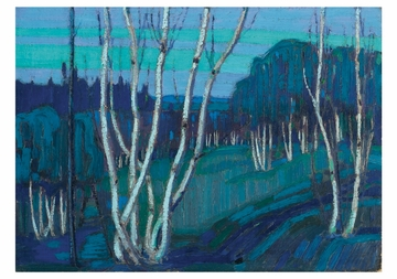 Silver Birches Notecard