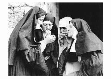 Smoking Nuns Postcard