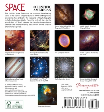 Space: Views from the Hubble Telescope 2018 Mini Wall Calendar