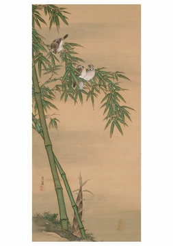 Sparrows and Bamboo Notecard