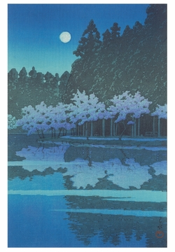 Spring Night at Inokashira Notecard