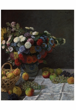 Still Life with Flowers and Fruit Notecard