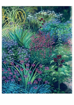 Summer Garden Border Notecard