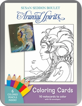 Susan Seddon Boulet Animal Spirits Coloring Cards