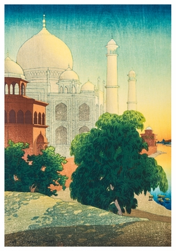 Taj Mahal Sunset Notecard
