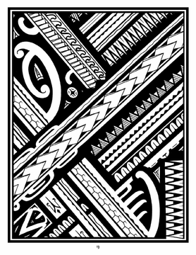 Tattoo: A Coloring Book of Polynesian Art by Anthony J. Tenorio