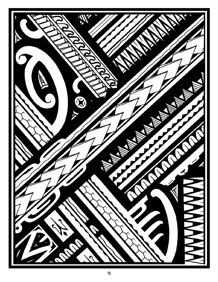 Tattoo A Coloring Book Of Polynesian Art By Anthony J Tenorio