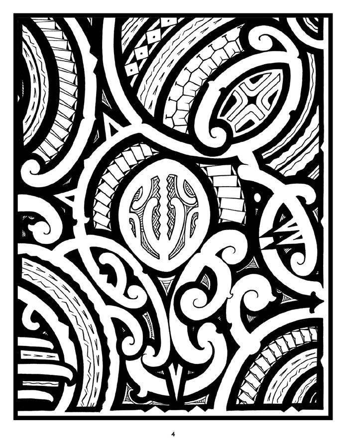 tattoo a coloring book of polynesian art by anthony j tenorio - Tattoo Coloring Books