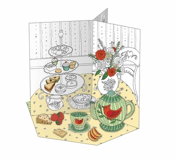 Tea Party: A Color, Punch Out, and Play Set