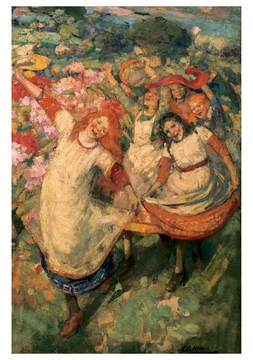 The Dance of Spring Notecard