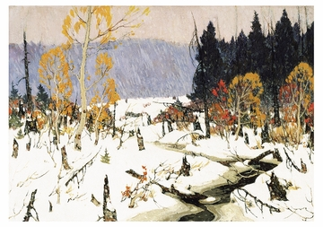 The First Snow Notecard
