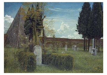 The Grave of Keats Postcard