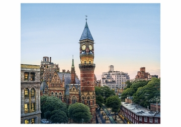 The Jefferson Market Courthouse and West 10th Street Notecard