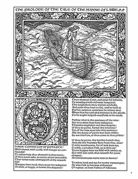 The Kelmscott Chaucer: William Morris & Edward Burne-Jones Colouring Book